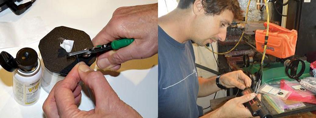 تمیز کردن فیبر در طول ترمینال