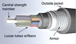 فیبر نوری Armored Cable