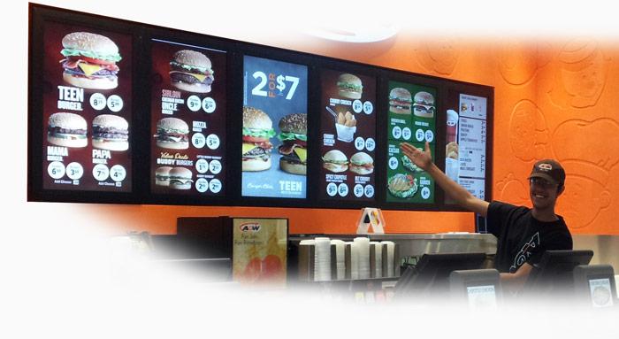 دیجیتال ساینیج رستوران ها و فودکورت ها