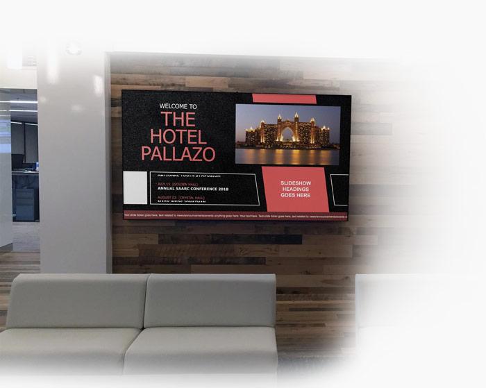 دیجیتال ساینیج هتل ها و مراکز اقامتی